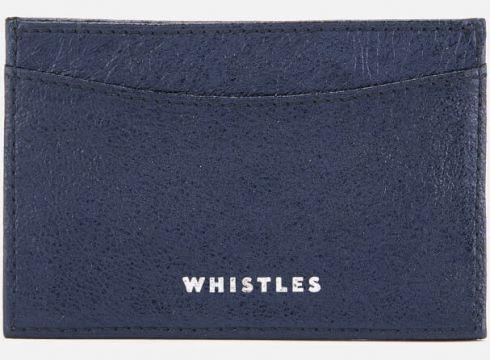 Whistles Women\'s Metallic Card Holder - Navy(67945550)