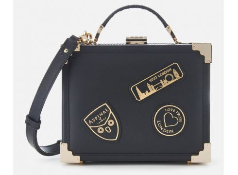 Aspinal of London Women\'s Mini Trunk Bag - Black(89038926)