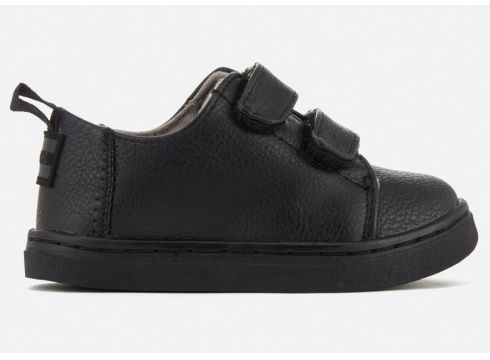 TOMS Toddlers\' Lenny Double Velcro Trainers - Black - UK 2/US 3 Toddlers - Schwarz(50499094)