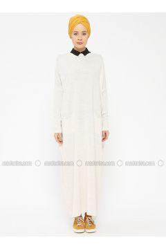 Beige - Crew neck - Unlined -- Dresses - Zentoni(110323364)