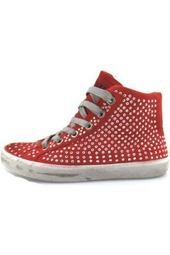 Chaussures enfant Crime London sneakers rouge daim strass AH982(88521377)