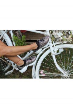 Dizzy Kadın Platin Taş Likralı Sneaker Ayakkabı(119135661)