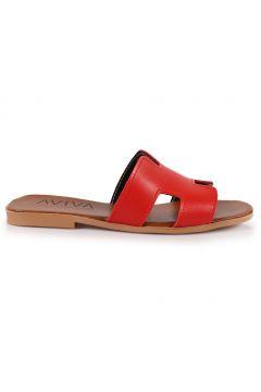 Stilgo Kadın Kırmızı Suni Deri Terlik(119318930)