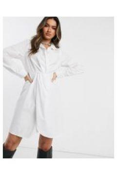 Public Desire - Vestito camicia strutturato in cotone-Bianco(120324399)