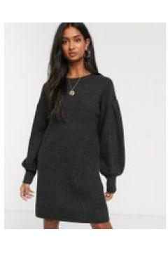 Micha Lounge - Vestito maglia corto con maniche a palloncino-Nero(112349202)