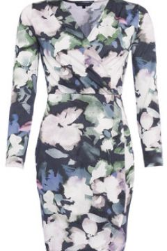 Robe French Connection Robe cache coeur col V manches longues(98488067)