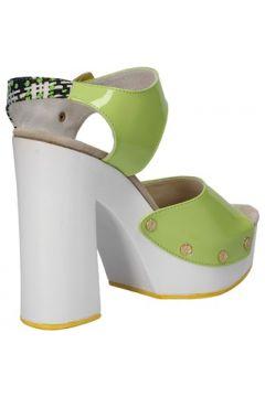 Sandales Suky Brand sandales vert cuir verni textile AC811(115394059)