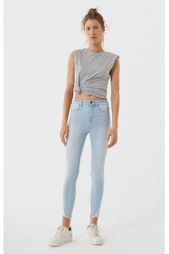Skinny-Jeans mit hohem Bund und Rissen Denim(114502208)