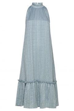 Maia Sassy Dress Kleid Knielang Blau BRUUNS BAZAAR(116997405)