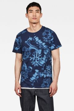 G-Star RAW Men Rijks Graphic T-Shirt Dark blue(117927433)