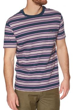 T-Shirt à Manche Courte RVCA Damian Crew - Moody Blue(111333189)