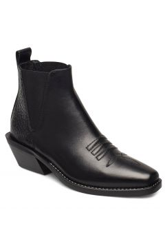 Sally Shoes Boots Ankle Boots Ankle Boots With Heel Schwarz NUDE OF SCANDINAVIA(94999085)