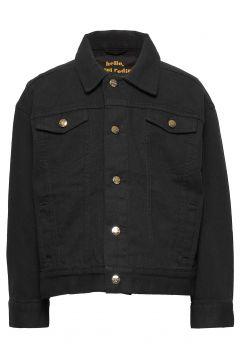 Denim Twill Leopard Jacket Outerwear Jackets & Coats Denim & Corduroy Schwarz MINI RODINI(114559621)