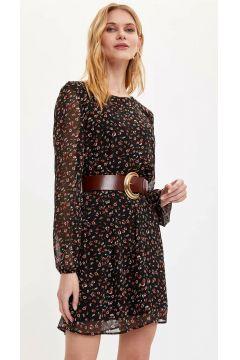 DeFacto Kadın Desenli Dokuma Elbise(108988511)