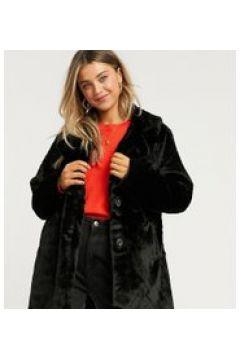 Wednesday\'s Girl - Cappotto oversize in pelliccia sintetica-Nero(122409092)