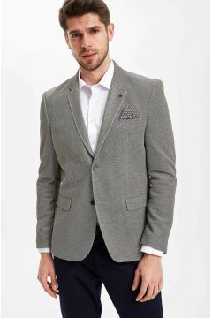 DeFacto Erkek Mendil Detaylı Modern Fit Blazer Ceket(108987187)