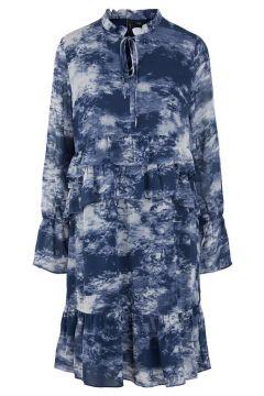 Y.A.S Yascloudy Robe À Manches Longues Women blue(111089336)