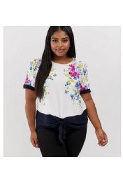 Oasis Curve - Top a fiori con allacciatura sul davanti-Multicolore(120358180)