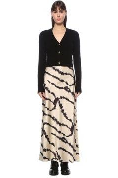 Allsaints Kadın Cleo Lieto Hırka Detaylı Maksi Triko Elbise Siyah S EU(124607209)