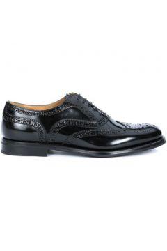 Ville basse Church\'s Chaussures à lacets Burwood en cuir verni noir(115495783)