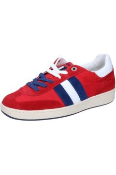 Chaussures D\'acquasparta sneakers rouge daim textile AB907(88482320)