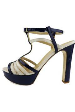 Sandales Twin Set TWIN-SET sandales bleu cuir verni beige cuir AH746(115400531)