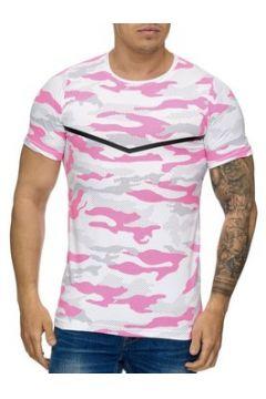 T-shirt Cabin T-shirt homme camouflage T-shirt 3178 rose et Blanc(115398206)