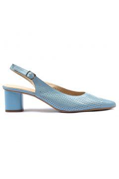Hotiç Hakiki Deri Mavi Kadın Kalın Topuk(114215060)