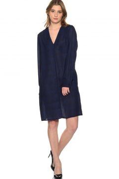 Beymen Studio V Yaka Lacivert Elbise(113951233)