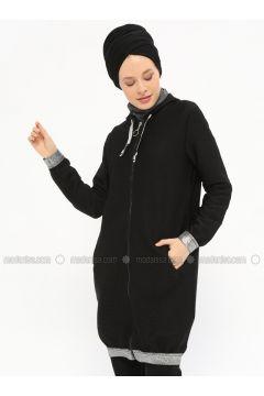 Black - Unlined - Topcoat - Nefise(110320766)