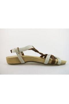 Sandales Michel Batic sandales blanc cuir marron AG23(127903876)