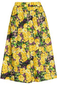 Cassiagz Aop Skirt Ao20 Knielanges Kleid Gelb GESTUZ(116997438)