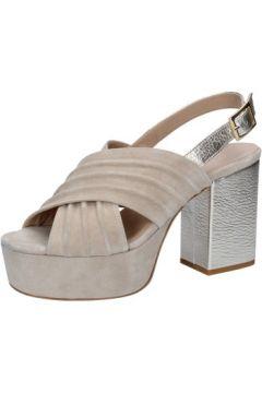 Sandales Le Marine sandales beige daim platino cuir BZ491(115399359)
