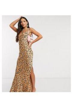 Missguided Tall - Vestito lungo leopardato con scollo ad anello-Multicolore(120324879)