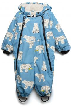 Snowsuit, 2 Zipper. Bear Outerwear Snow/ski Clothing Snow/ski Suits & Sets Blau SMÅFOLK(95006753)