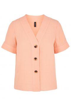 Y.A.S V-ausschnitt Kurzarmhemd Damen Pink(111098167)