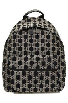 Balmain Erkek Bej Siyah Logo Jakarlı Sırt Çantası EU(113464447)