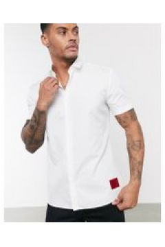 HUGO - Empson-W - Camicia a maniche corte bianca-Bianco(112534796)
