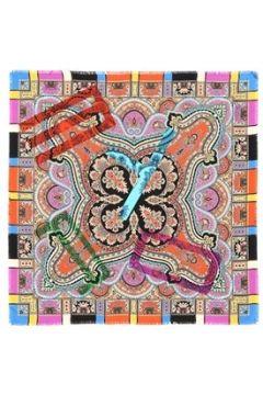 Etro Kadın Colorblock Karışık Desenli 90x90 İpek Eşarp EU(107373457)