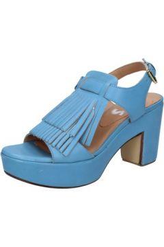 Sandales Shocks sandales bleu cuir BY402(115401133)