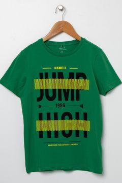 Name İt Erkek Çocuk Yeşil T-Shirt(113980851)