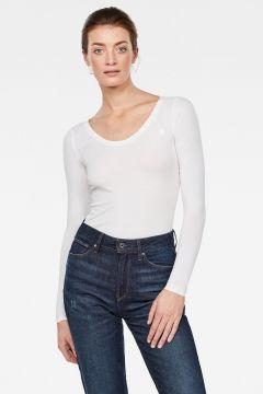 G-Star RAW Women Basic Round Neck T-Shirt White(118171494)