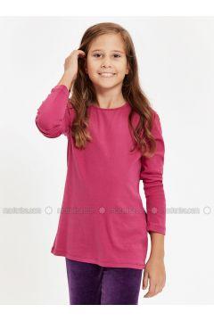 Purple - Crew neck - Age 8-12 Top Wear - LC WAIKIKI(110342303)