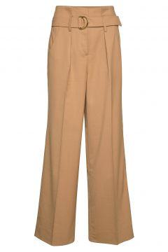 Moyet Hw Trousers Hosen Mit Weitem Bein Braun SECOND FEMALE(114152725)