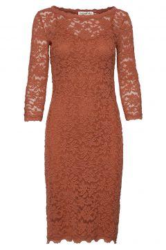 Dress 3/4s Kleid Knielang Braun ROSEMUNDE(114165072)