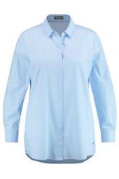 Klasssiche Baumwollbluse Samoon Lavender Blue(111506740)