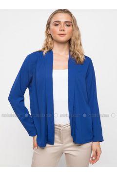 Blue - Jacket - DeFacto(110325421)