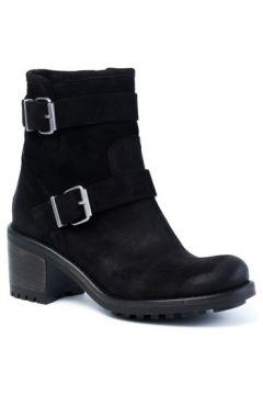 Boots E-cow Roxanne Saturnia Cuir Noir(115441107)