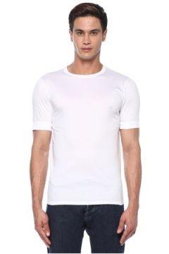 Caruso Erkek Beyaz Bisiklet Yaka Basic T-shirt S US(118214502)
