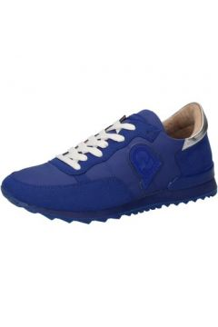 Baskets Invicta sneakers bleu textile daim AB56(88470022)